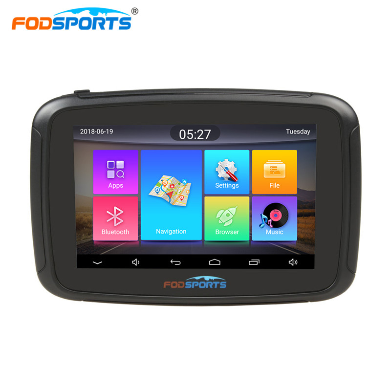 Fodsports Motorcycle Navigation RAM 1G ROM 16G Android 6.0 IPX7 Waterproof GPS Traker WIFI Bluetooth Car Navigator Free Maps