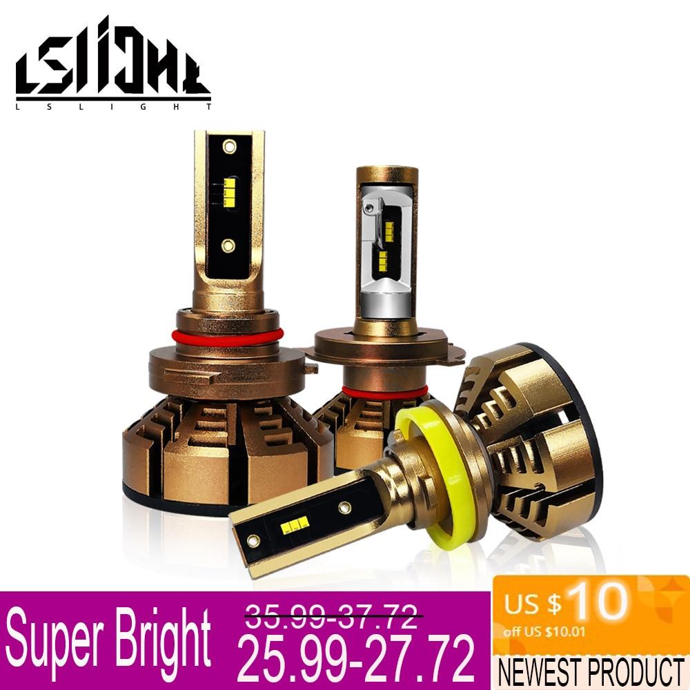 LSlight phare LED H7 H4 H11 H1 9006 HB2 HB4 H8 H9 ampoule de voiture LED 6000 K 9600LM 72 W 12 V 24 V Voiture Lumière diode Glace Lampes luces