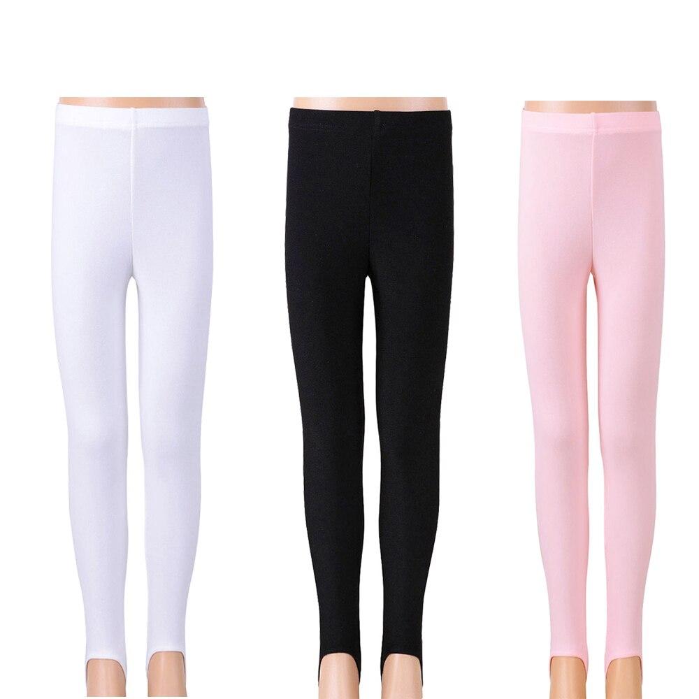 BAOHULU Children Stirrup Dance Trousers Gymnastic Practice Pantyhose Girls Skinny Pants Fitness Pants Plus Dance Clothes Legging