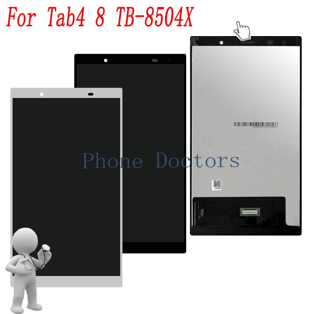 8.0 inch LCD DIsplay + Touch Screen Digitizer Assembly For Lenovo Tab4 8 8504 TB-8504X TB-8504N TB-8504F 10 1inch lcd with touch panel 1920x1200 for lenovo tab 4 tb x704l lcd display touch screen digitizer assembly