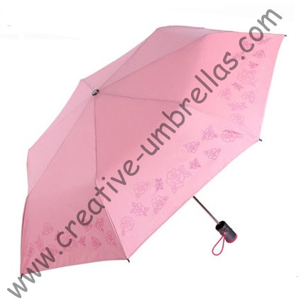 Μίνι τσέπη ομπρέλα, τρεις φορές, χειροκίνητα 6 νεύρα, επινικελωμένο πλαίσιο, τσέπη χαριτωμένο μίνι ομπρέλες φωτισμού