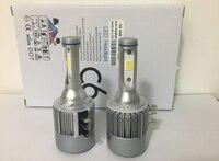 H15 COB 72 Вт 7600lm Беспроводной C6 светодиодные фары Противотуманные фары авто фары Вождение лампы DRL автомобиля света поиска для vw audi-BMW Гольф 7
