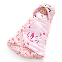 Cocoon for Newborns Swaddle Sleeping Bags Winter Thermal Bebe Girls Basket Bedding Sleep Sacks Autumn Cotton Baby Boys Envelopes