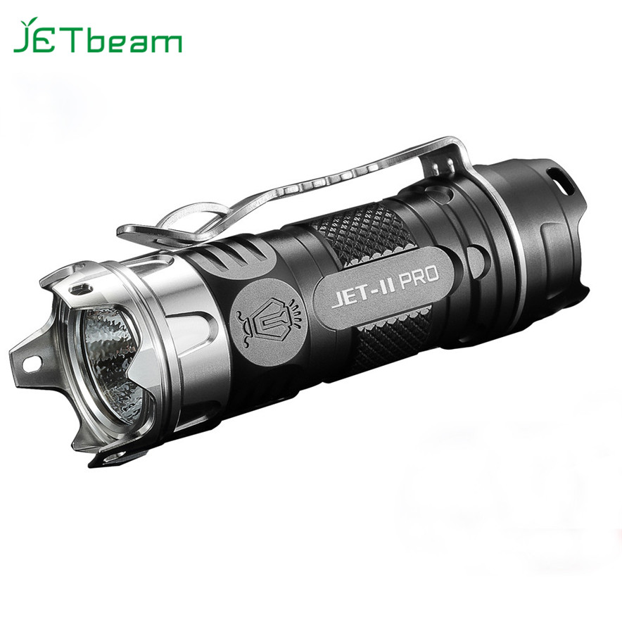 JETbeam II PRO TI Cree XP-L HI 510Lumens16340 EDC LED Flashlight With glass breaker hiking camping climbing flashlight L70607