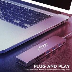Image 3 - Vmade Mini Design USB C 3.0 moyeu type c adaptateur 1080p pour Huawei Samsung Galaxy Note s9 s8 type c USB C 7 en 1 HUB Mini convertisseur