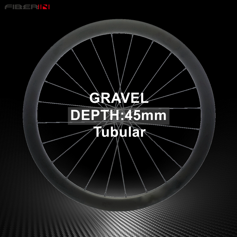 Cyclocross Carbon Wheelset Tubeless 45mm Depth Disc Brake Hub Gravel Bike Cycle Cross road bicycle hookless Carbon Wheels