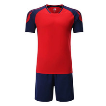 2017 Hot Selling mens soccer jerseys sets game team soccer tracksuit adult DIY blank breathable training football jerseys kits