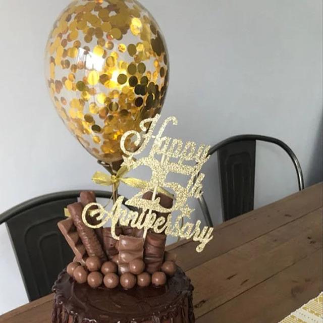 Confetti Balloon Cake Topper 5 inch