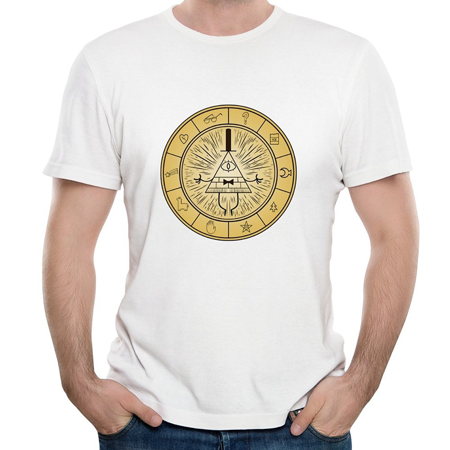 Mens gravity falls symbol mysteries bill cipher short sleeve tee mens gravity falls symbol mysteries bill cipher short sleeve tee shirt in t shirts from mens clothing accessories on aliexpress alibaba group biocorpaavc