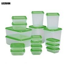 Пищевой контейнер для хранения множества, обед сохранение Bento Box боксов microwavable пластиковая коробка для хранения пищи с крышками 17 шт.