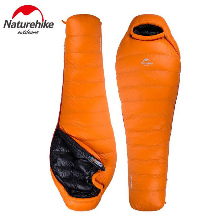 NatureHike Outdoor Mummy Down Sleeping Bags Filling Adult Outdoor Heat Preservation Winter Camping Single Sleeping Bag naturehike outdoor duck down sleeping bag adult camping mummy winter sleeping bag nh17u800 l nh17u120 l