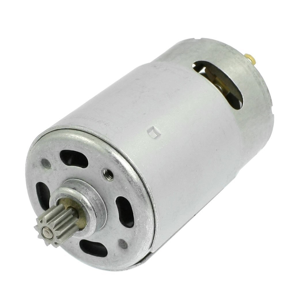 цена на DC 18V 9 Teeth Shank Gear Motor Replacement for Rechargeable Electric Drill