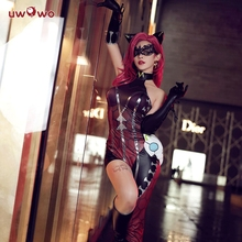 UWOWO  Game King Glory Women Cosplay Costume Black Cat Jing ke Black Cat Costume Cosplay Halloween Party Dress Costume Full Set women s fashionable sexy cat style cosplay sleep dress set black