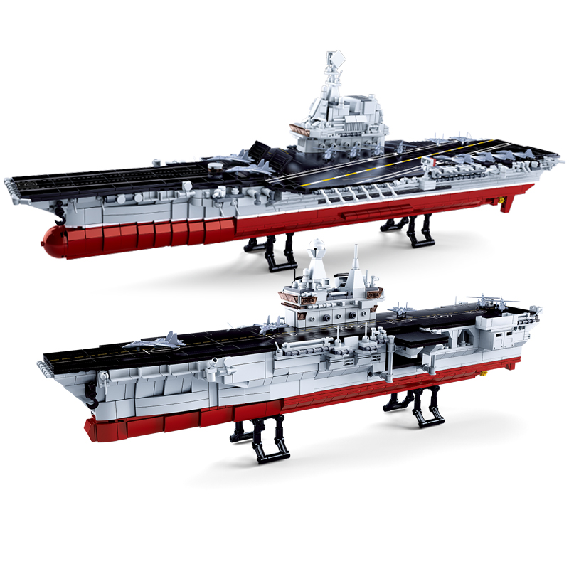 Image 3 - Compatible legoed navy ship Aircrafted Carrier military submarine sets boat warship model Building kits Blocks bricks kid toys-in Blocks from Toys & Hobbies