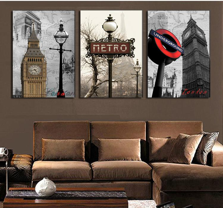 unidsset londres ciudad paisaje moderno arte de la pared pintura decorativa casera de