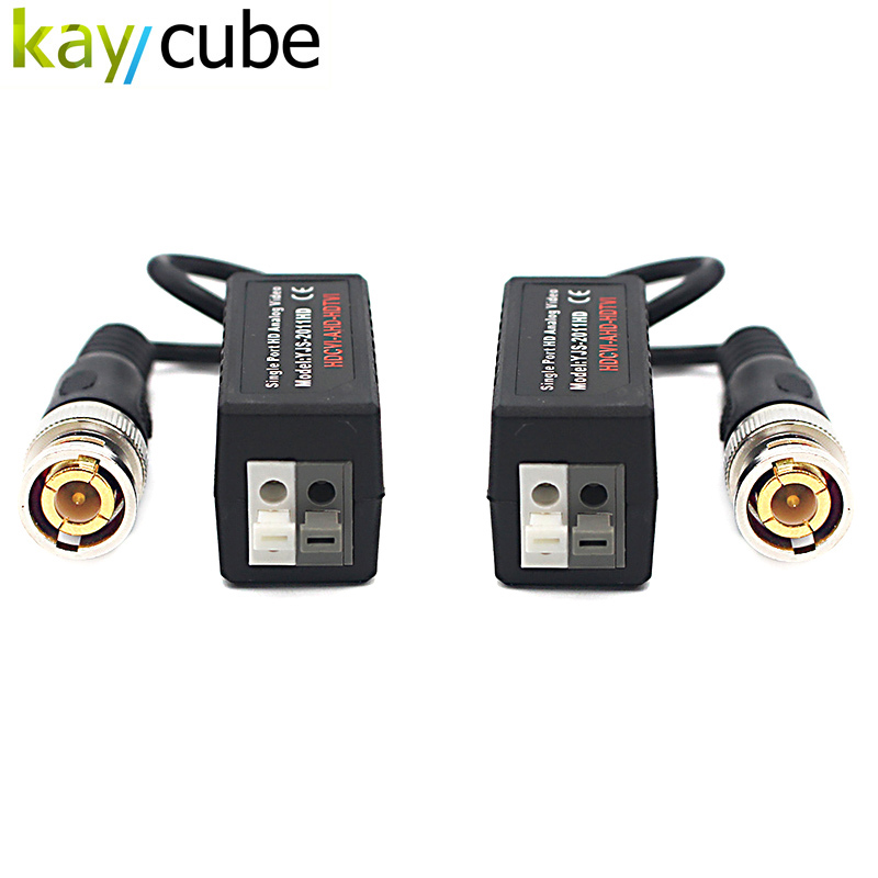5pcs/lot Kaycube 2011Hd Utp Ahd Twisted Bnc Cctv Video Balun Transmitter Long Range Up To 450m Balun Hdcvi Hdtvi Ahd Video Balun bnc video balun passive transceiver coax cat5 camera utp cable coaxial adapter for 200 450m distance ahd hdcvi tvi camera