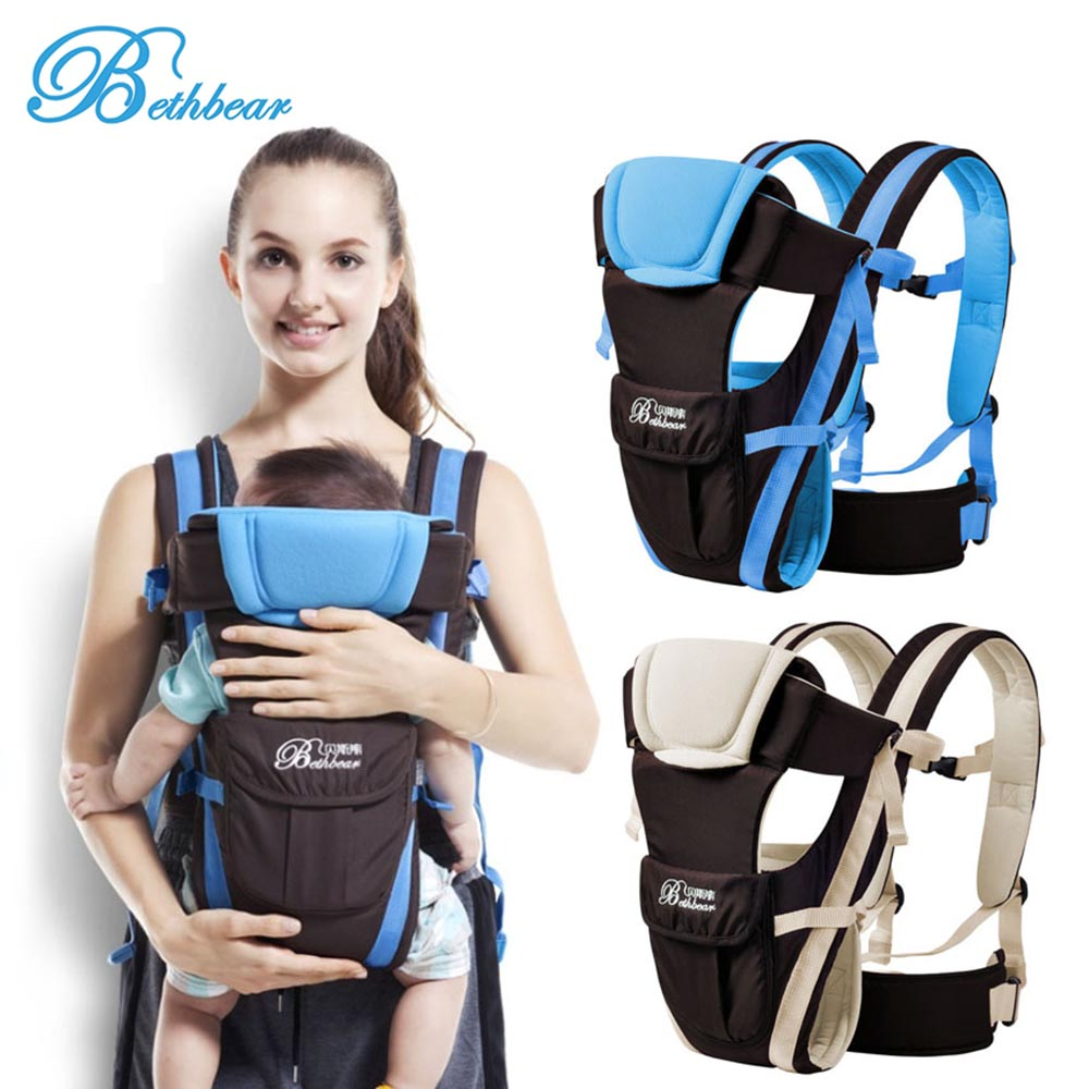 Beth Bear 0-30 Months Baby Carrier Breathable Front Facing 4 in 1 Infant Comfortable Sling Backpack Pouch Wrap Baby Kangaroo breathable baby carrier backpack portable infant newborn carrier kangaroo hipseat heaps sling carrier wrap