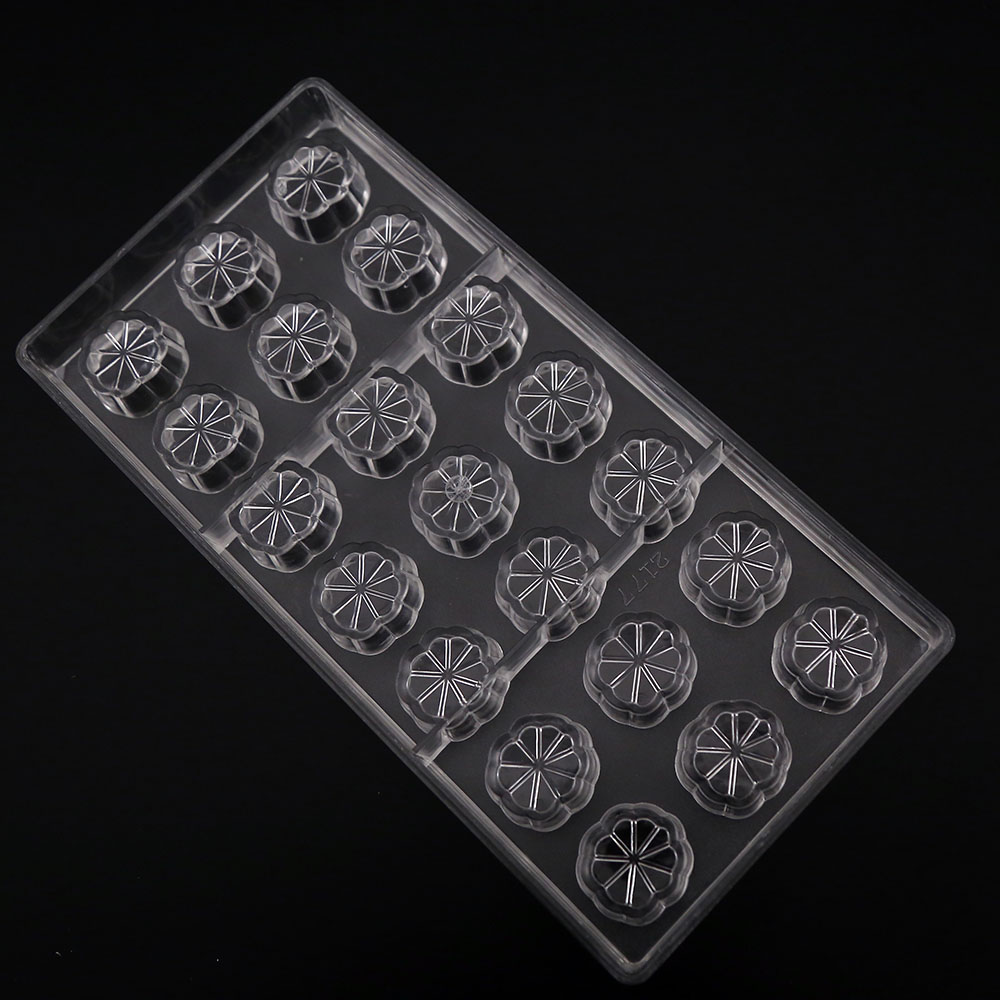 New arrival wedding chocolate molds bakery and pastry tools flower chocolate mold polycarbonate plastic kitchen pastry