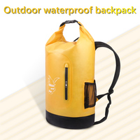 New 20L 35L Waterproof Bags Double Dry Bag Backpack For Outdoor River Trekking bag Hiking Drifting Swimming Travel Kits PVC Bags