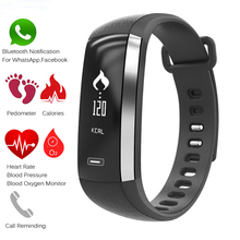 New Fashion Smart Bracelet Brood Pressure Wristwatch Heart Rate Monitor Pulse Meter Sport Smart wristband Fitness Watch Men