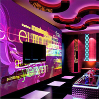 Papel De Parede 3D Flooring Wallpaper Golden Time Hotel KTV Backdrop Wall Paper Microphone K Song