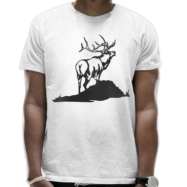 9616f34ca Summer Custom Crew Neck Short Sleeve T-Shirt Elk Cotton Tees Top for Mens  New Fashion T Shirt Graphic Letter Funny
