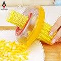 Wulekue Gadgets Acessórios de Cozinha Ferramenta Corn Cob Kerneler Grain Thresher Stripper Peeler Remover Ferramentas Fruta Vegetal