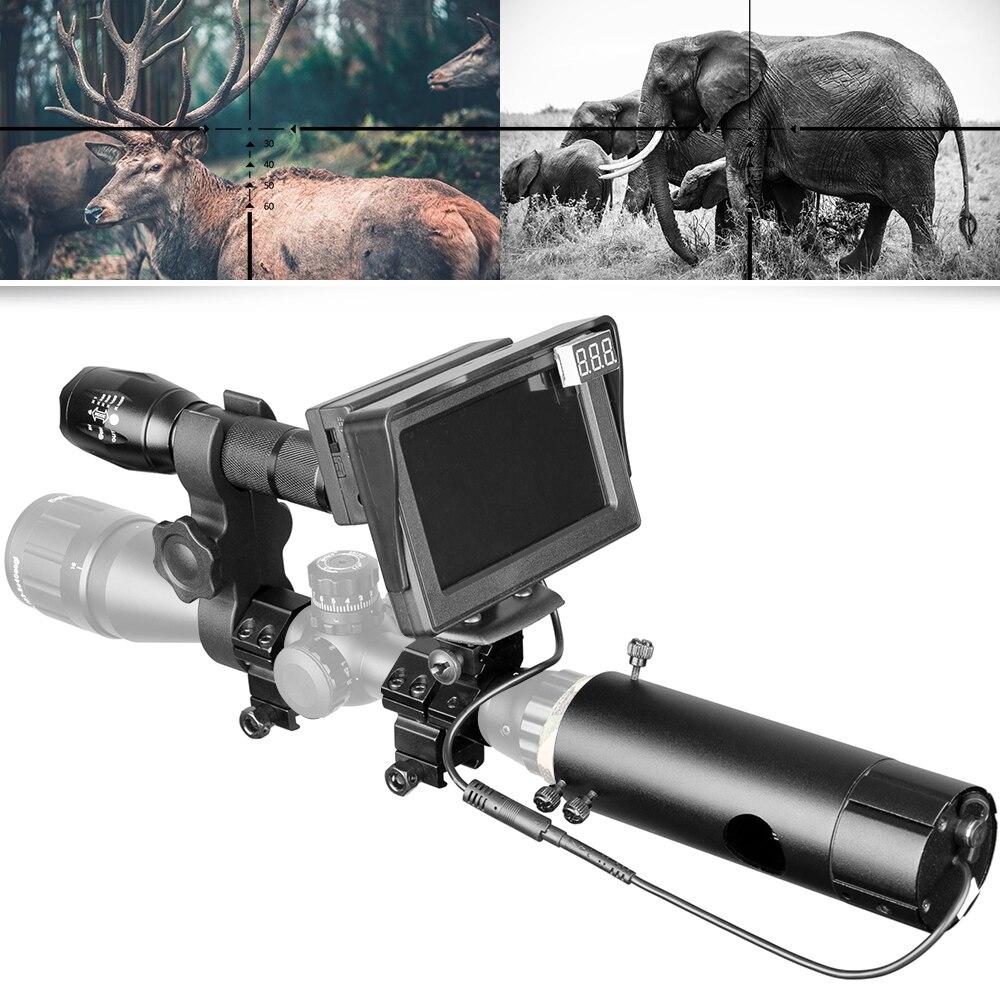 850nm Infrared Night Vision Device Scope Sight Day Night Dual Use LCD Camera Night Vision Scope Screen Laser Flashlight