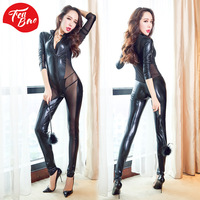 Women Sexy Leather Cosplay Uniform Sexy Queen Temptation Transparent Tight SM Cosplay Costume Sexy Nightwear Erotic Lingerie Set