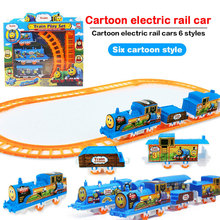 Electric Diy Track Small Train Puzzle Assembled Track Train Toy Magic Education Toy Rail Car Children Gift Boy Girl Toy Store цена 2017