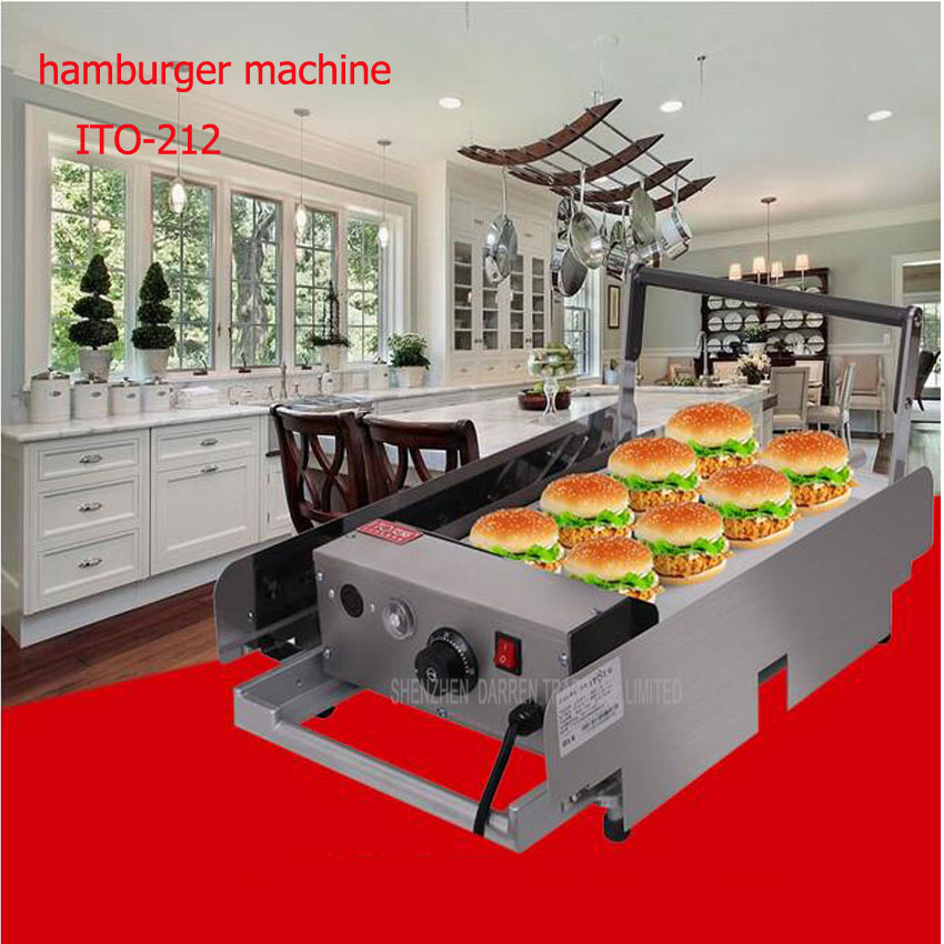 1PC KFC Hamburger Commercial Hamburger Machine McDonald's Grilled Hamburger Machine Baking Hamburger Machine 35l meat salting marinated machine chinese salter machine hamburger shop fast pickling machine with timer