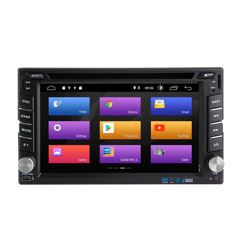 AutoRadio 2 din Android 9,0 coche unidad para Nissan Qashqai Xtrail de Almera 3 Multimedia grabadora de Audio navegación GPS