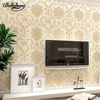 beibehang European Paradise 3d Stereo Relief Nonwovens Wallpaper Living Room Bedroom Sofa Background Wallpaper papel de parede