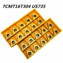 50PCS Carbide insert TCMT16T304 US735 external turning tool lathe tool hard cutting blade TCMT16T304 carbide cutting tool 50pcs square tcmt16t304 md turning carbide insert long time cutting quality