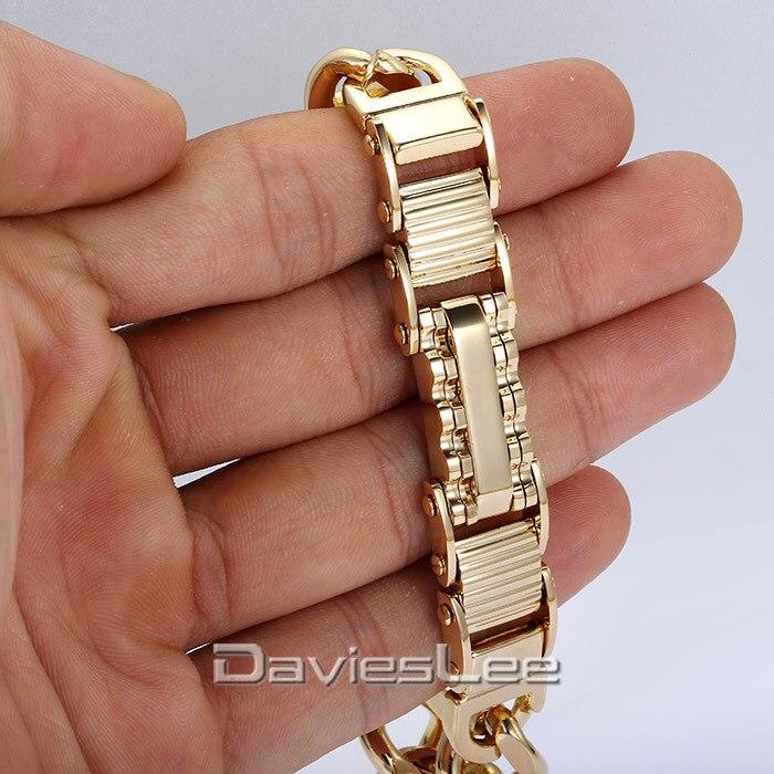 18e90d85321c Moda fresca del regalo 6 estilos hombres Boy plata oro negro modelo griego  enlace pulsera de acero inoxidable Curb cadena cubana DLKB400 en Cadena y  del ...