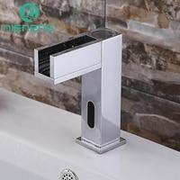 NIENENG sensor faucets waterfall bathroom sink faucet water basin mixer restaurant tap automatic torneira fitment ICD60247
