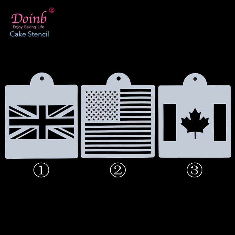 US $1 45 |6inch DIY Custom Flag Plastic Cake Stencil Mold Lace Pad Spray  Flower for Wall Painting Cupcake Decoration Baking Tool Moulds-in Cake  Molds