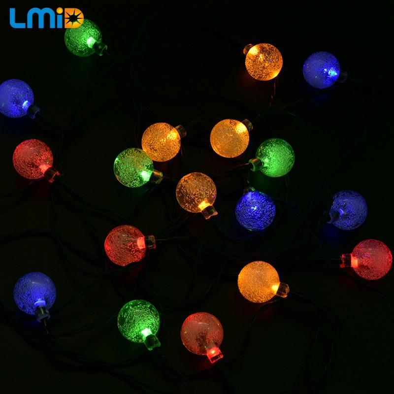 LMID Solar Lampen Kristallkugel Wasserdichte Bunte Fee Outdoor Solar - Außenbeleuchtung - Foto 3