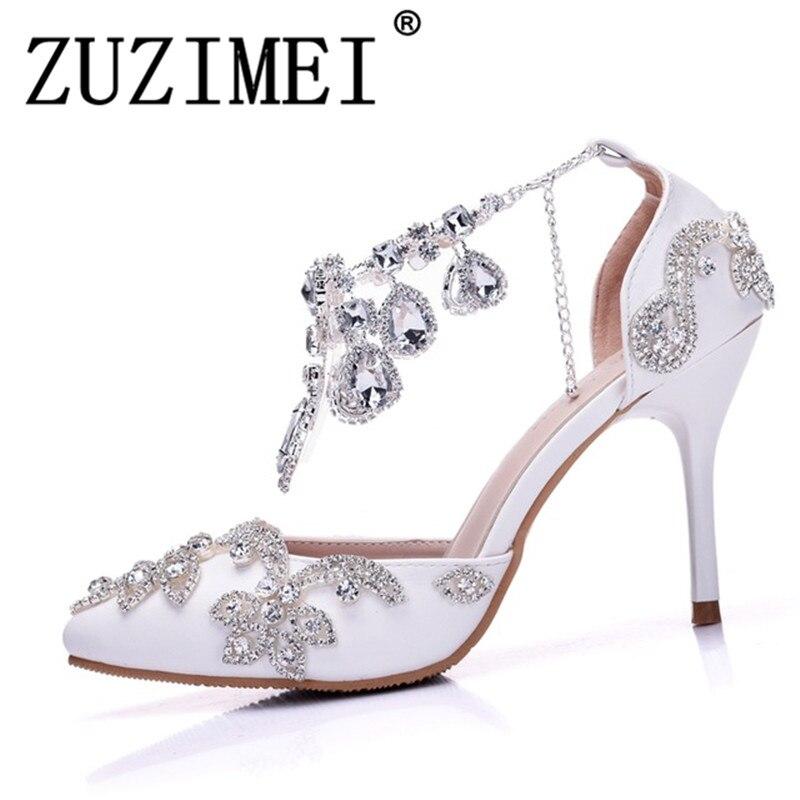 Damas Partido Estrecha Altos Zapatos Sandalias De Mujer Novia UzVMSqp