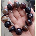 Natural polished Sardonyx Silk agate Moist and plump Bead Bracelet 12mm 16mm men and women's bracelet