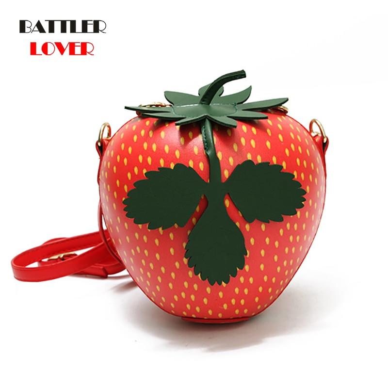 Strawberry Watermelon Apple Fruit Bags for Women 2019 Bag Women Handbag Bolsa Feminina Shoulder Luxury Handbags Women Bag Design