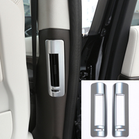 ABS Matte Chrome B Pijler AC Vent Frame Cover Trim accessoires Voor Land Rover Discovery 5 2017 Auto-styling Set van 2 stks
