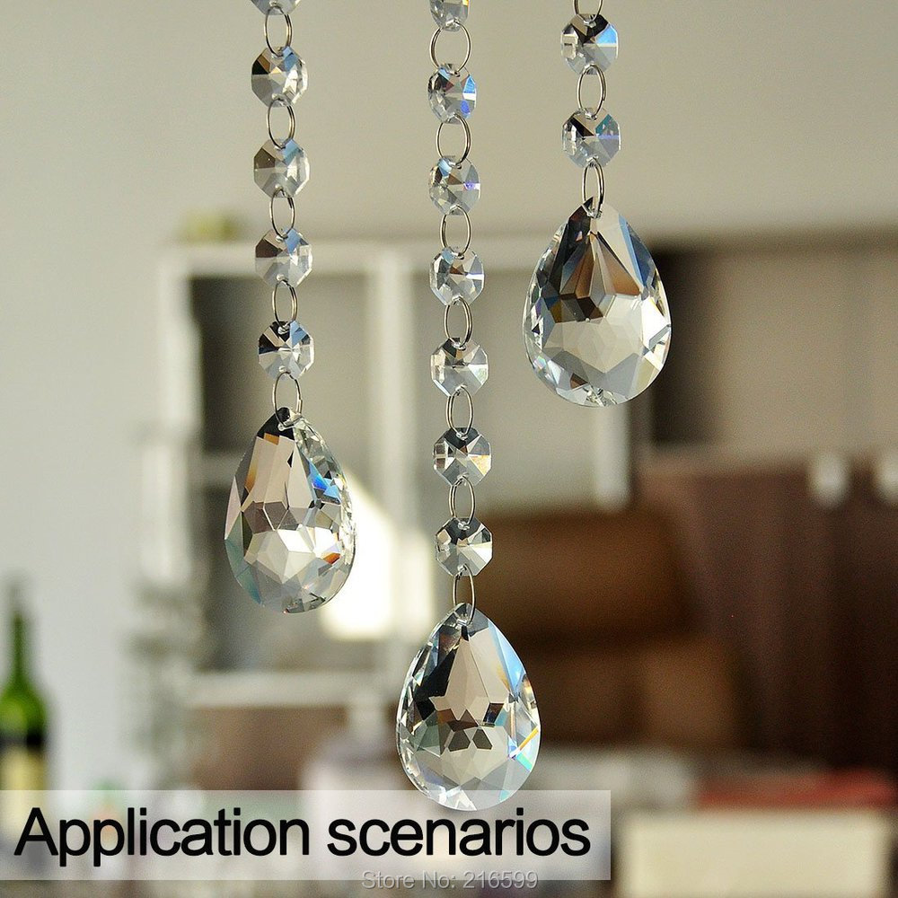 10pcs 50mm Clear Glass Crystal Faceted Prisms Chandelier Pendants ...
