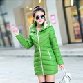 2016 Autumn and Winter jacket women fashion casual wadded jacket outerwear plus size medium-long down cotton women jacket coat