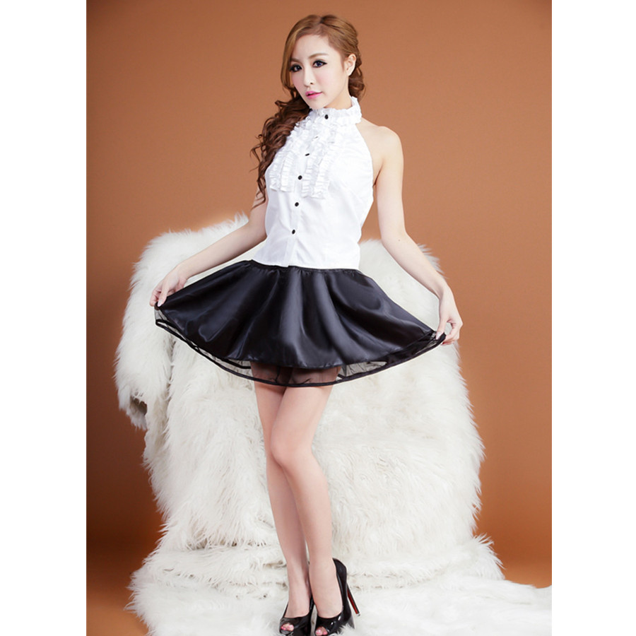Women Sexy Maid Waitress Professional Outfit Cosplay Uniform ...