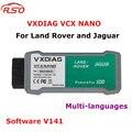 Newest Top Quality Free shipping USB Version Allscanner VXDIAG VCX NANO for Land Rover and Jaguar Software V145