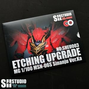 Image 1 - SH スタジオ MG 1/100 シナンジュ Xinanzhou ガンダム特殊金属エッチングシートアクションフィギュアモデル詳細修正修理