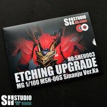 SH STÜDYO MG 1/100 SINANJU Xinanzhou Gundam Özel Metal Aşındırma Levha Eylem şekilli kalıp Detay Modifikasyonu Tamir