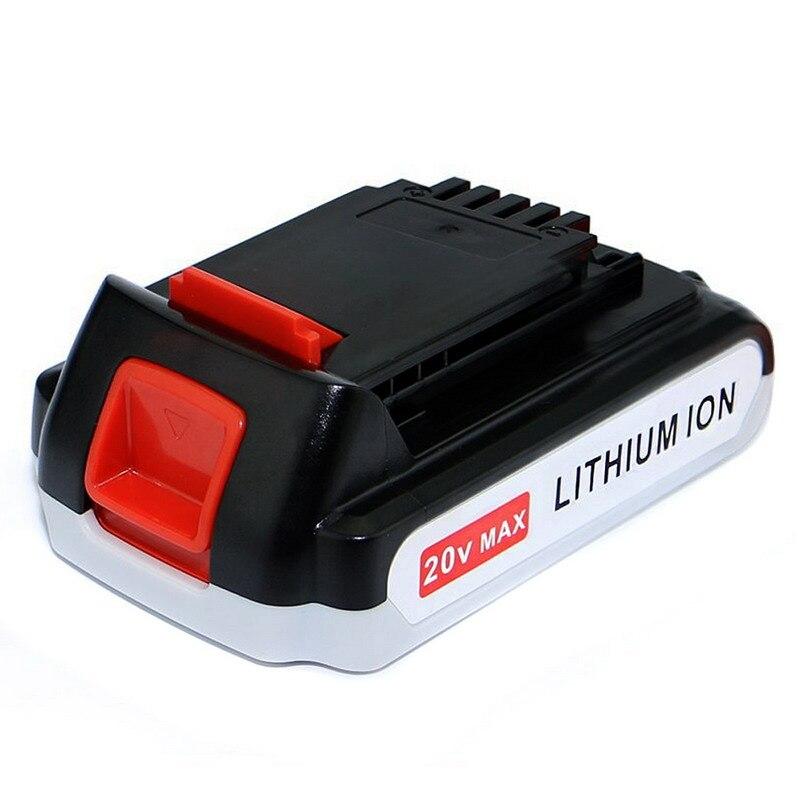 Battery Power Tool B&D 20V 1500 mAh Li-ion LB20 LBX20 LBXR20 BDCDMT120 CHH2220 LCS120 ASL188K LSW20 SSL20SB  T15 2 pcs power tool battery charger for dewalt dcb101 dcb105 dcb200 dcb201 d 65510 new 20 v li ion free shipping