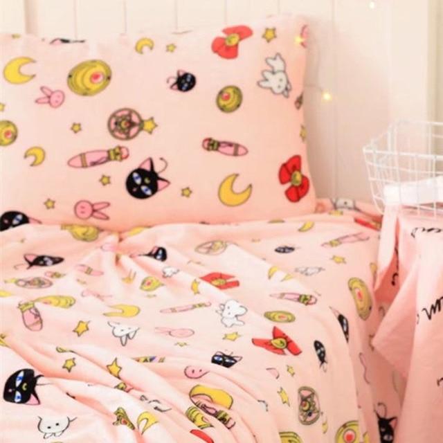 Sailor Moon Usagi Tsukino Luna Bettwäsche Set Futon Abdeckung Set